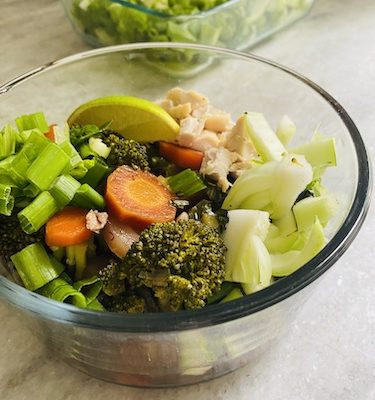Asian Style Veggie Loaded Soup