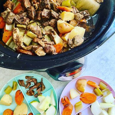 Slow Cooker Balsamic Pot Roast & Veggies